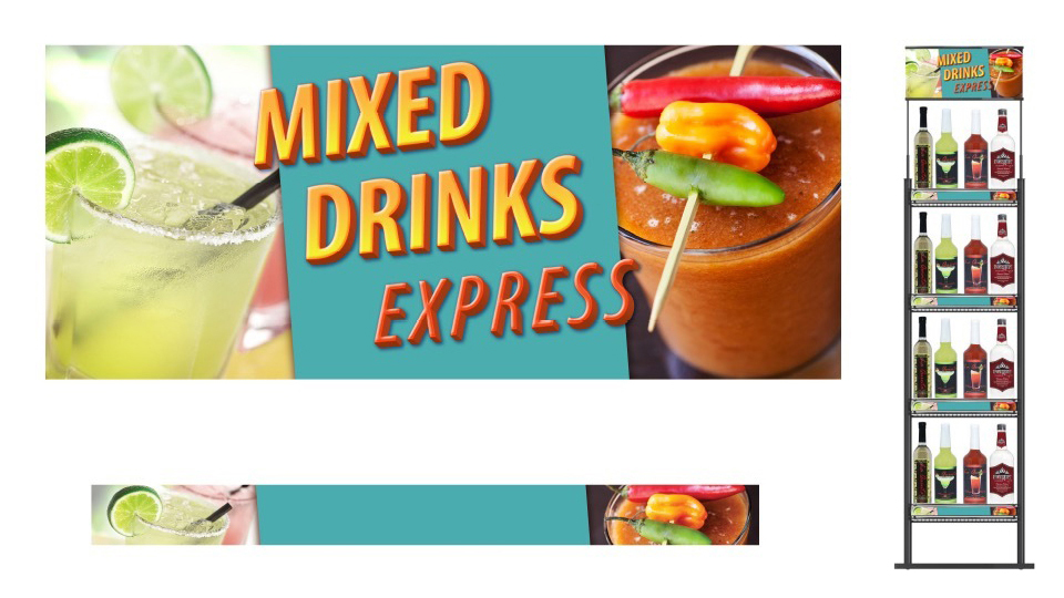 Mixed Drinks Express | Alcohol beverage display