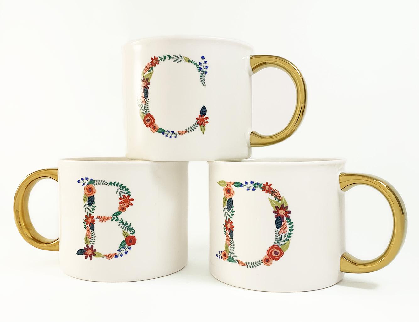Target Monogram Mugs