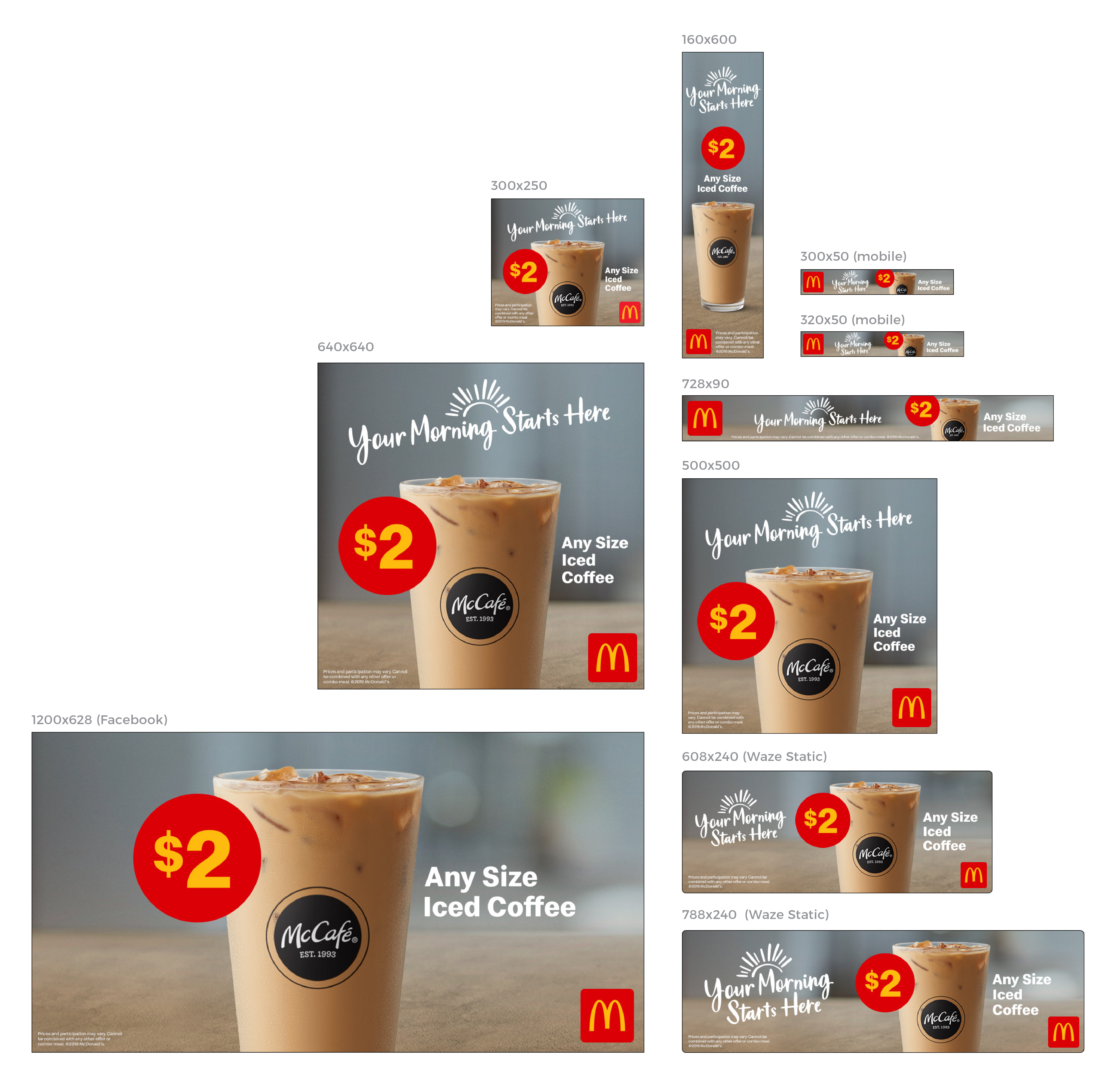 McCafe Iced Coffee Digital Advertising Campaign - Featured in the San Francisco Region for the Hispanic Consumer Market (HCM)