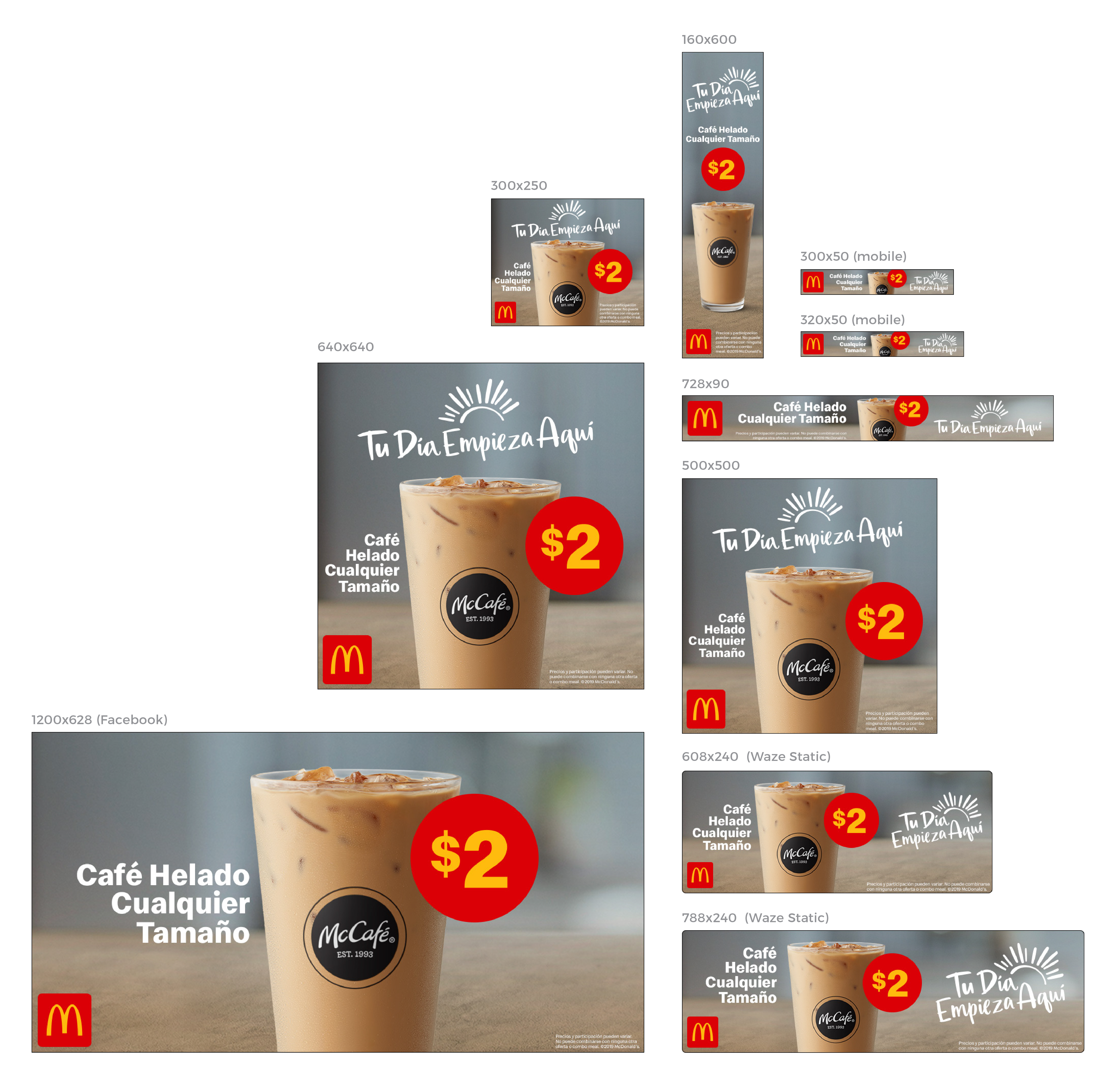 McCafe Iced Coffee Digital Advertising Campaign - Featured in the San Francisco Region for the General Consumer Market (GCM)